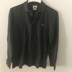 Lacoste Long Sleeve Grey Polo